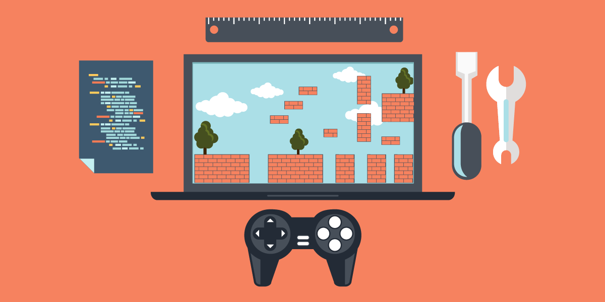 An Animated Image that represents the game developer concept.