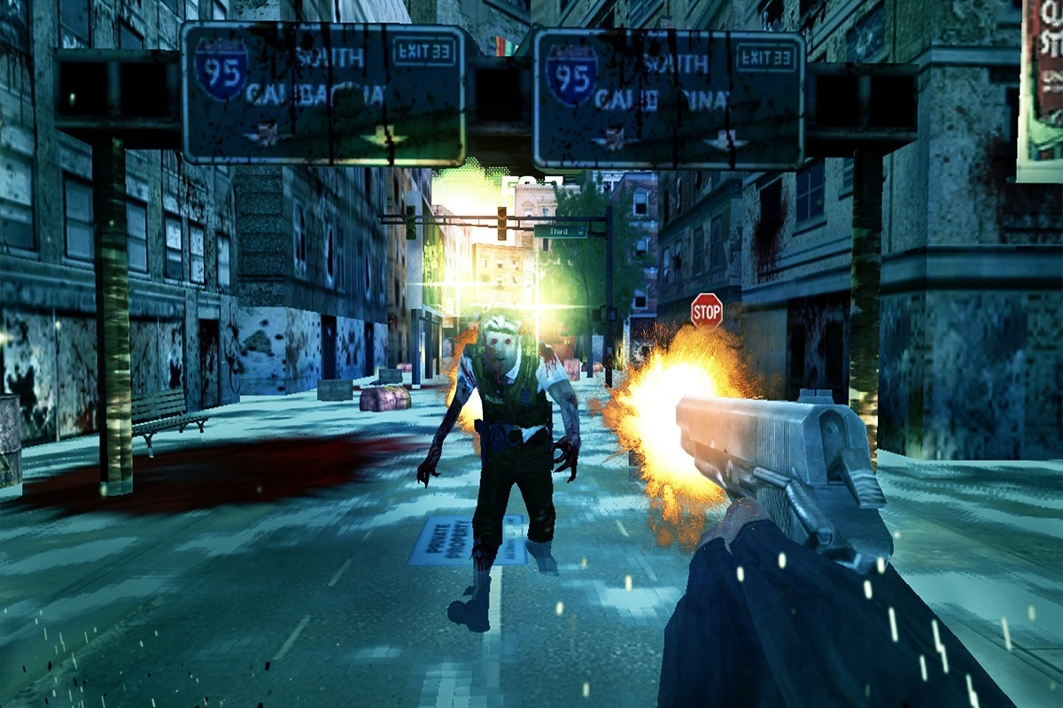 Image of Zomibie Dead City Game - Sompre and Intense First Person Shooter Game.