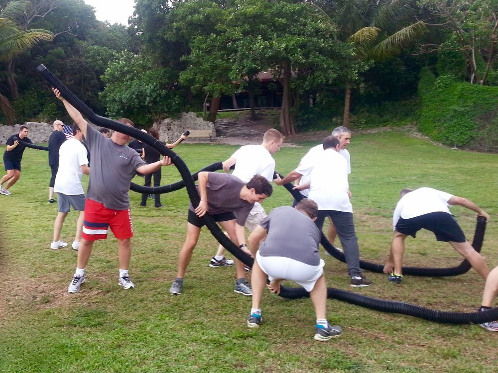 Image Representing The Team Building Game Concept.